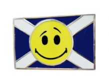 Scotland Saltire Happy Face Flag Pin Badge (T1208)